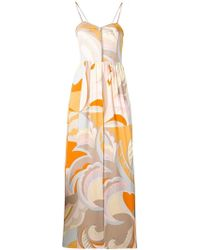Emilio Pucci - Acapulco Print Crystal Embroidered Jumpsuit - Lyst