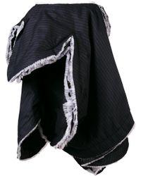 Comme des Garçons Asymmetric Pinstripe Skirt