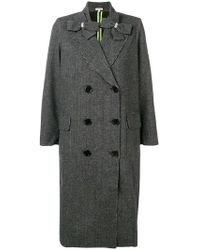 Manoush - Double Breasted Check Coat - Lyst