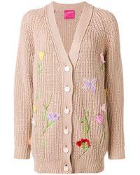 Blumarine - Floral Appliqués Cardigan - Lyst