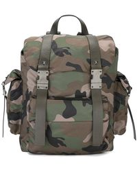 Valentino - Camouflage Print Backpack - Lyst