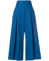 Etro - Cropped Wide-leg Trousers - Lyst