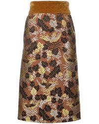 Jill Stuart - Floral Jacquard Pencil Skirt - Lyst