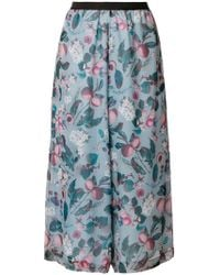 Antonio Marras - Floral-print Cropped Trousers - Lyst