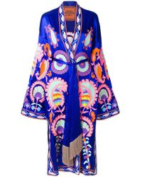 Yuliya Magdych - Delight Embroidered Wrap Dress - Lyst