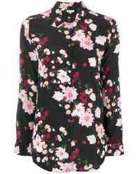 Equipment - Camisa con estampado floral - Lyst