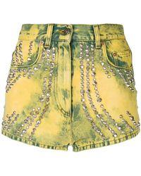 Gucci - Pantaloncini di jeans con appliqué - Lyst