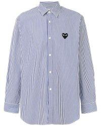 Play Comme des Garçons - Striped Button Down Shirt - Lyst