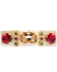 Dolce & Gabbana - Заколка Для Волос С Кристаллами - Lyst