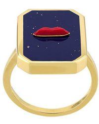 Eshvi - Enamelled Ring - Lyst