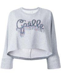 Gaëlle Bonheur - Beaded Logo Sweatshirt - Lyst