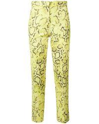 Pinko - Snakeskin Print Trousers - Lyst