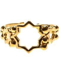 Leivan Kash - Cut Out Star Open Ring - Lyst