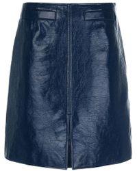 Courreges - Front Slit Mid Skirt - Lyst