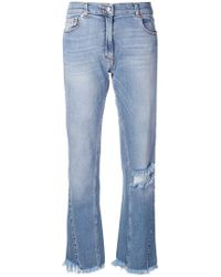 Magda Butrym - Distressed Loose Jeans - Lyst