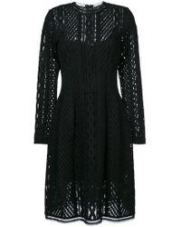 Ermanno Scervino - Long Sleeved Sheer Dress - Lyst