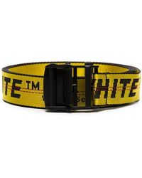 Off-White c/o Virgil Abloh - Black And Yellow Industrial Logo Belt - Lyst