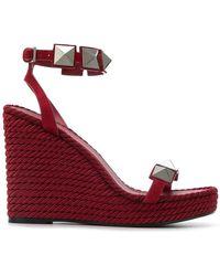 Valentino - Garavani Macro Stud Sandals - Lyst