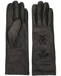 Twin Set - Crystal-embellished Gloves - Lyst