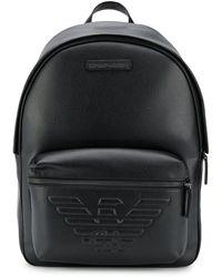 Emporio Armani Рюкзак С Тисненым Логотипом - Черный