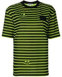 McQ - Striped Eyes T-shirt - Lyst