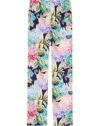 Gucci - Hydrangea Silk Pajama Pant - Lyst
