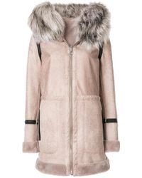 Urbancode - Faux Fur Trim Hooded Coat - Lyst