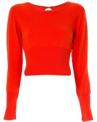 Balenciaga Red Wool Lingerie V-neck Sweater in Red - Lyst ffa34b6d2