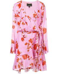 Cynthia Rowley - Malibu Poppy Print Wrap Dress - Lyst
