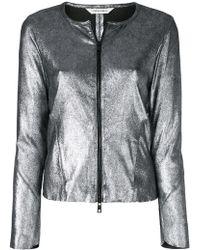 Giorgio Brato - Metallic Zipped Jacket - Lyst