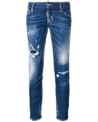 DSquared² - Super Skinny Cropped Jeans - Lyst