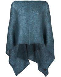 Al Duca d'Aosta - Al Duca D'aosta 1902 Sheer Knitted Short Cape - Lyst