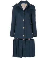 Thom Browne - Low-slung Pleated Mackintosh Overcoat - Lyst