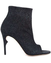 Jerome C. Rousseau | Clothilde Glittered-Leather Ankle Boots | Lyst