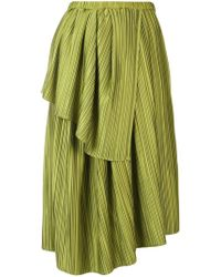 702d2f0ac7 Christian Wijnants - Plisse Draped Skirt - Lyst