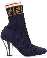 Fendi - Lace-up Sock Boots - Lyst