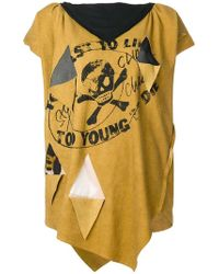 Vivienne Westwood Anglomania - Oversized Asymmetric T-shirt - Lyst