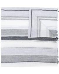 Ferragamo - Striped Frayed Scarf - Lyst