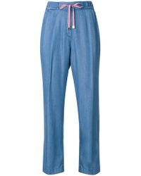 Re-hash - Drawstring Cropped Trousers - Lyst