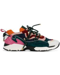 Carven - Colour Block Lace-up Trainers - Lyst