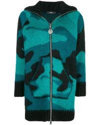 DIESEL - Zipped Cardi-coat - Lyst