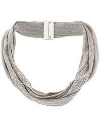 Fabiana Filippi - Ball Chain Mesh Necklace - Lyst