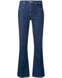Sonia Rykiel Cropped Flared Jeans