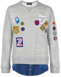 DSquared² - Embroidered Badge Sweatshirt - Lyst