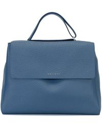 Orciani - Satchel Leather Tote Bag - Lyst