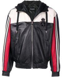Dolce & Gabbana - Colour Block Zipped Jacket - Lyst