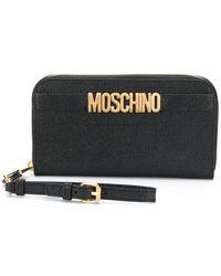 Moschino - Zip Around Wallet - Lyst
