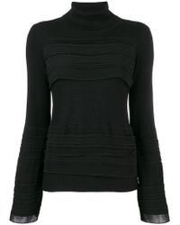 Patrizia Pepe - Pleated Front Jumper - Lyst