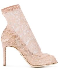 Dolce & Gabbana - Pumps With Lace Socks - Lyst