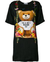 Moschino - Teddy Bear T-shirt Dress - Lyst